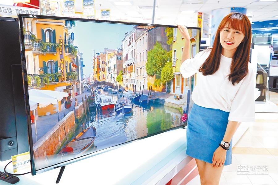 燦坤主打65型大4K電視免3萬,Fujimaru 65型4K低藍光顯示器+視訊盒(TK-6568UHD)市價4萬9900元,燦坤會員價2萬9999元。(燦坤提供)