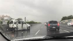 國1彰化段豪大雨 釀車禍