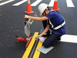 中市路平提升標線抗滑係數 機車自摔降低