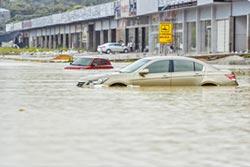 莫柏肆虐 深圳水淹道路