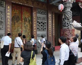 白河永安宮「潘麗水門神彩繪」獲指定台南市古物