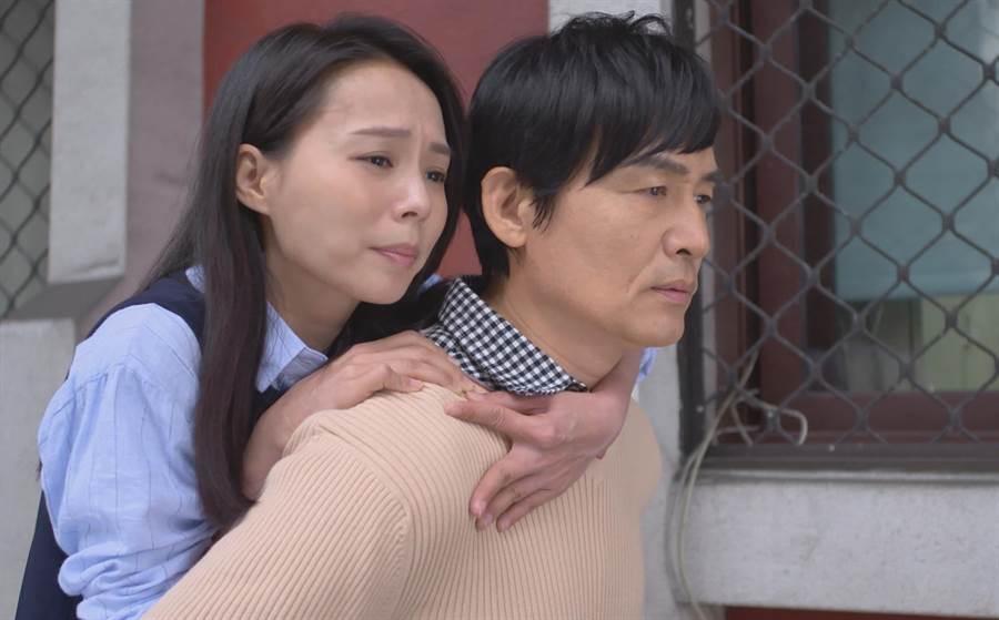 霍正奇、孫淑媚一起拍戲。(圖片提供:台視)