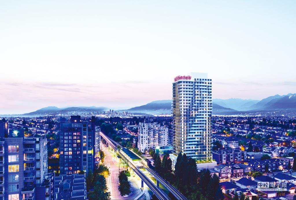 西岸置業溫哥華最新建案「天瑜」。圖/業者提供