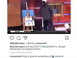 NBA》獲選五大冏MVP 韋斯布魯克按讚霸氣回應