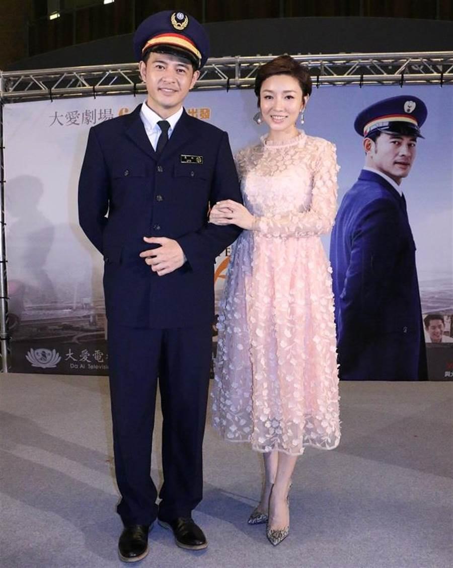 黃玉榮和林可唯劇中飾演夫妻。(中天提供)