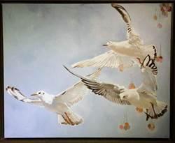 大陸青年畫家朱毅二度來台 展出阡陌紅塵中的「心鐘」