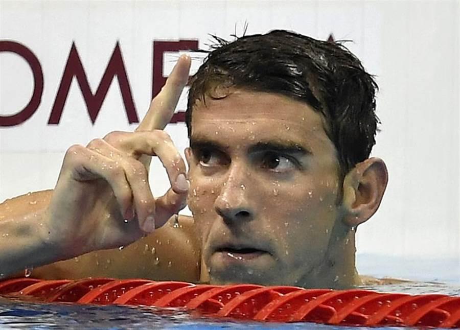 美國傳奇泳將「飛魚」菲爾普斯稱讚東京奧運延期,希望大家能多關注運動員的心理狀態。(美聯社資料照)