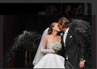 施華洛世奇女繼承人出嫁 百萬禮服綴50萬顆水晶