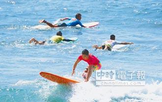 台灣衝浪賽 上百好手競技