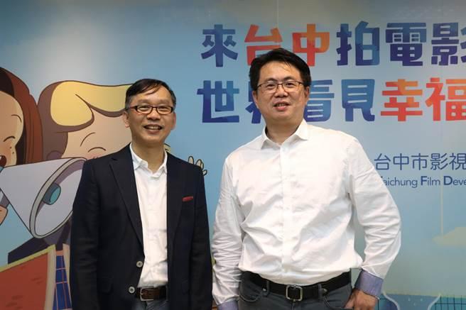 台中國際動畫影展節目總監石昌杰(左)與台中市影視發展基金會執行長林盈志,為影展帶來新「動」力!(盧金足攝)