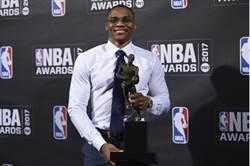 NBA》韋斯布魯克奪年度MVP 激動落淚