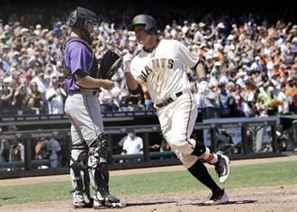 MLB》黃載均初登大聯盟 立馬致勝轟