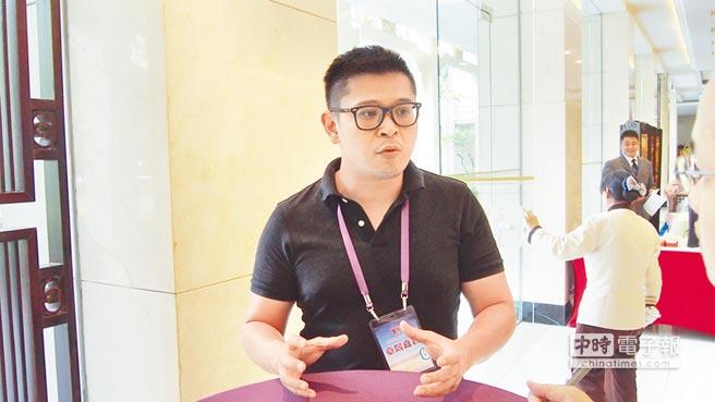 「愛駒資訊」執行長劉冠宏表示,廣州擁有大陸最大汽車零配件市場,期望能將系統落戶當地。(記者李侑珊攝)