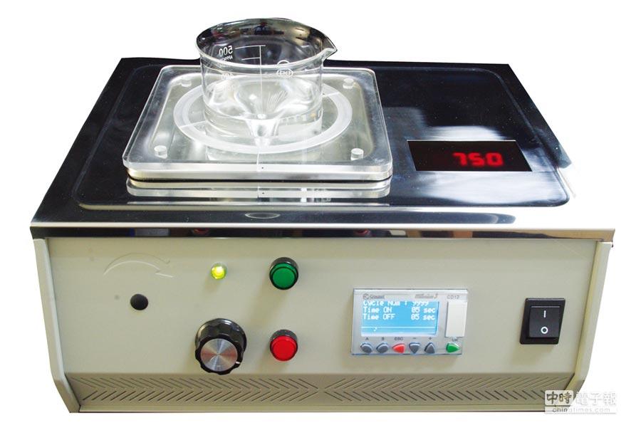 捷力邦的非接觸超音波磁力攪拌器-SoniMixer。圖/業者提供