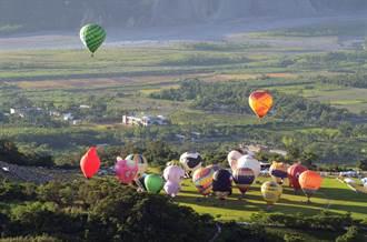 台灣熱氣球嘉年華開幕 鹿野天空繽紛無比