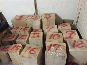 神祕客來電  嘉市民宅查獲市價數十萬元樟木塊