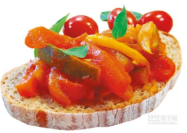 「Start Boulangerie」法式烘焙坊,現場提供燉煮蔬菜等美食,首月邀義大利主廚進駐。(比漾提供)