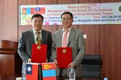 興大與蒙古國立生科大學合作 學生可望出診駱駝