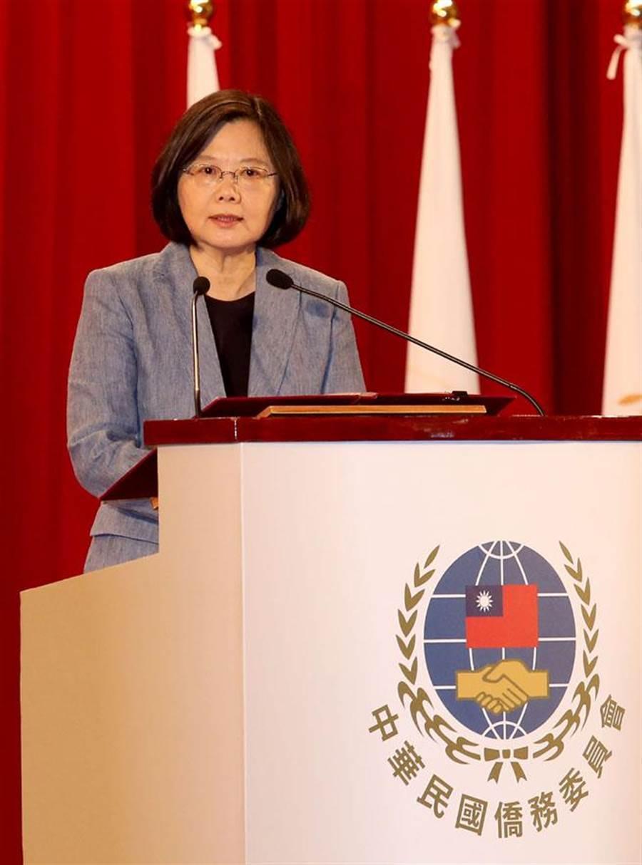 2016年10月24日,「105年僑務委員會議」開幕典禮2在台北舉行,蔡英文總統出席致詞。(報系資料照 王英豪攝)