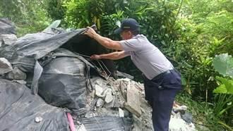 惡意丟營建廢棄物 土石推中便條紙成破案關鍵