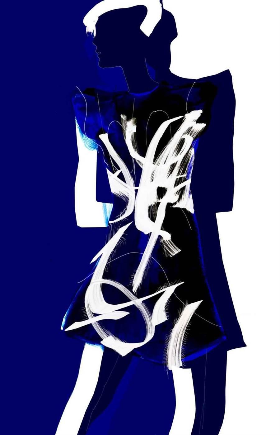 H&M Studio x colette 系列手繪稿。(H&M提供)