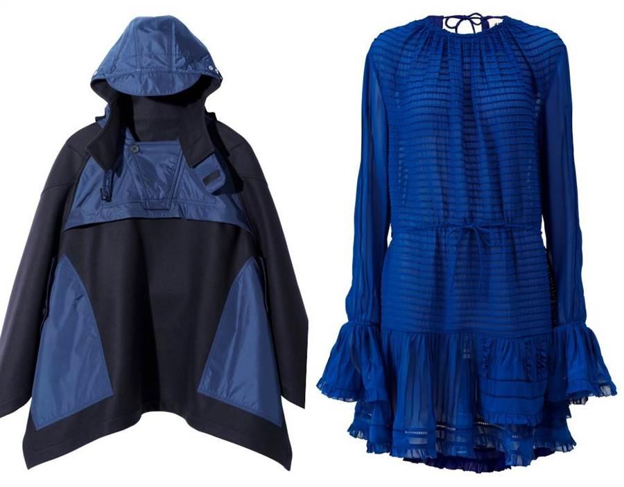 H&M Studio x colette 系列防水外套/200歐元、荷葉邊洋裝 170歐元(台灣未訂價)(H&M提供)