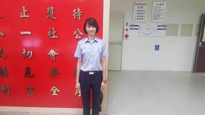 身高176的林芸蔓是跳高健將,第一天實習警察工作就破獲機車竊案,很有成就感。(翻攝照片)