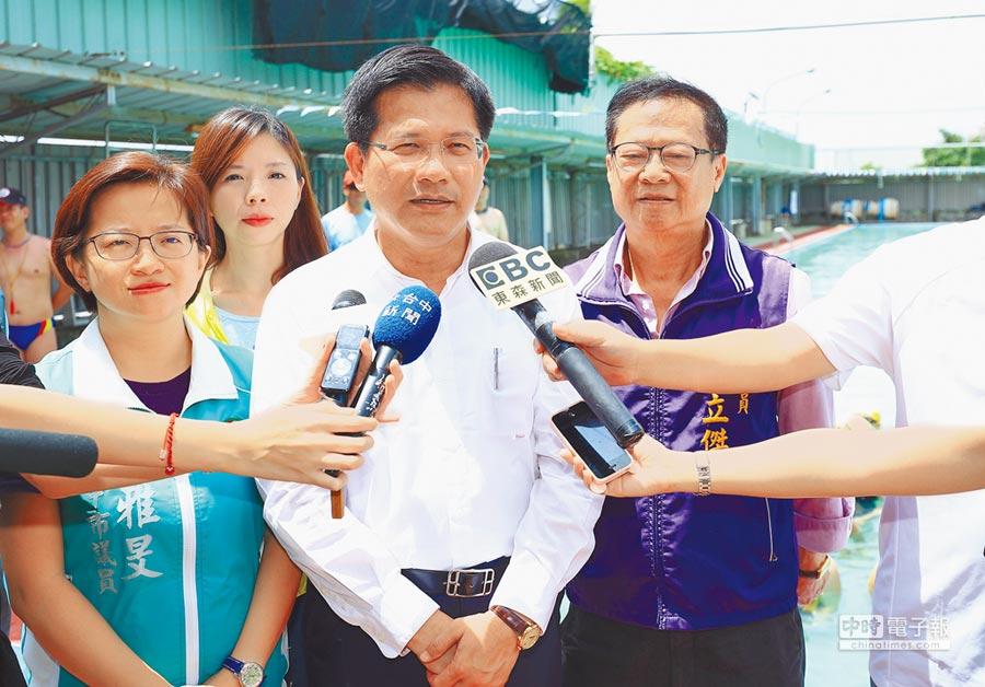 台中市長林佳龍表示,霧峰光復新村為INGO中心基地,歡迎國內外組織進駐。(陳淑娥攝)