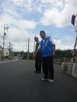 市議員李榮鴻爭取 中山路鋪設轉爐石完工