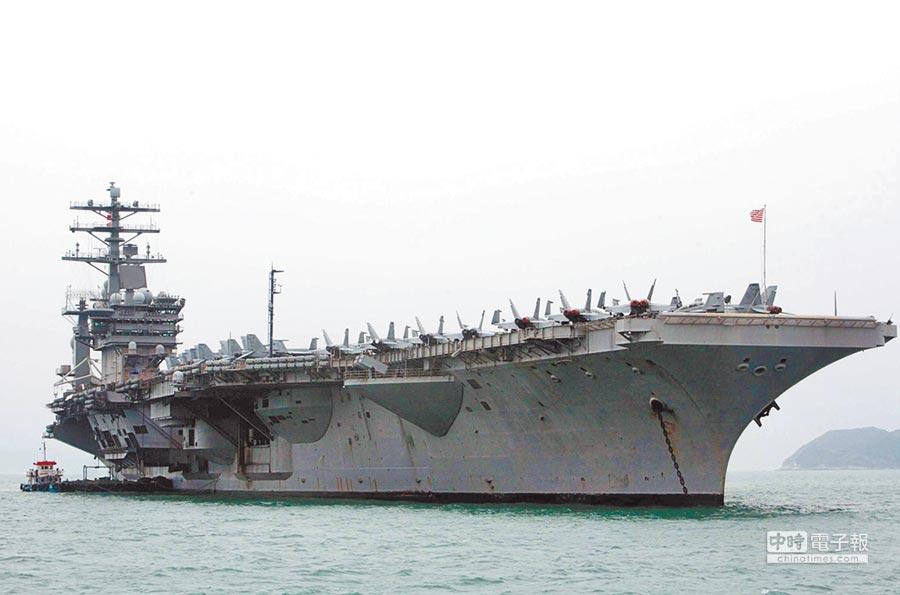 美國航空母艦「尼米茲」號。(中新社資料照片)