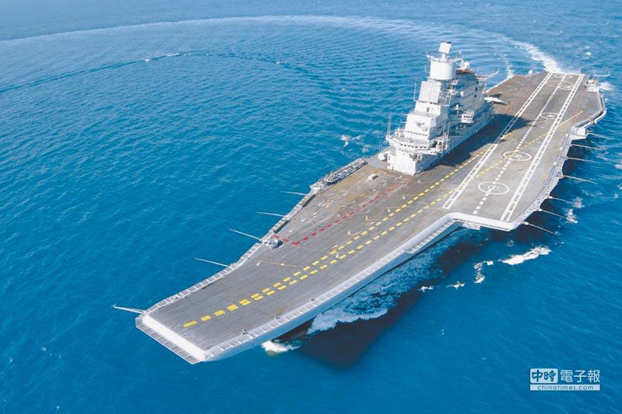 印度航母「維克拉瑪蒂亞」號。(取自印度海軍官網)