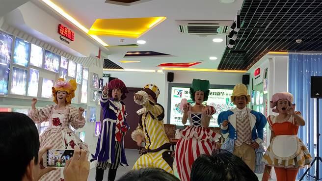 來自台灣的「如果兒童劇團」今年帶來義大利即興喜劇「謊言!卡布奇諾」,登陸北京「第七屆中國兒童戲劇節」。(藍孝威攝)