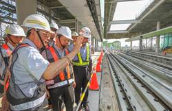 國發會副主委視察中捷綠線 肯定市府軌道規劃具前瞻性