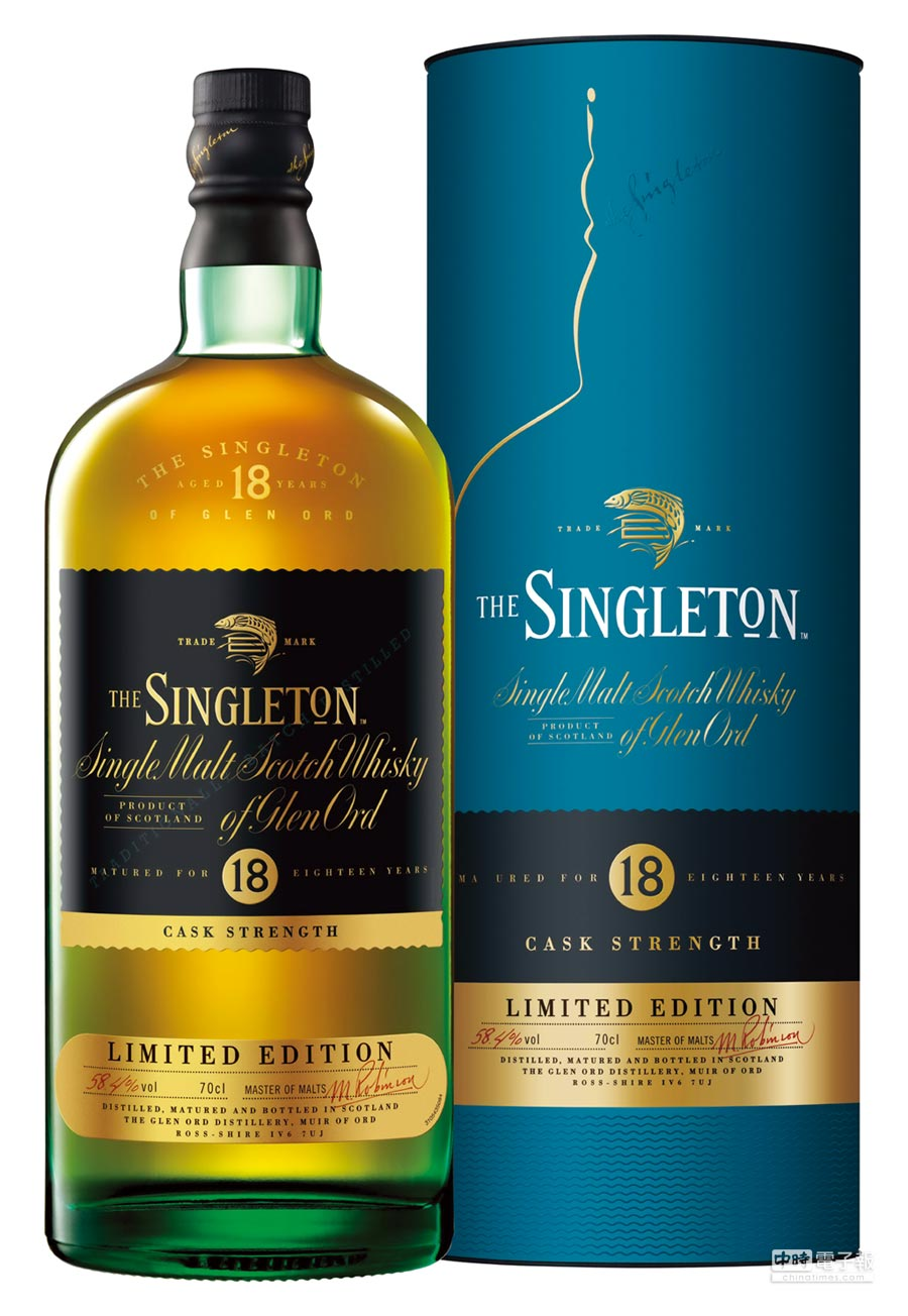 為了慶賀「蘇格登Glen Ord酒廠」邁向180周年及全年份單一麥芽威士忌榮獲ISC國際烈酒競賽全金牌的殊榮肯定,首席調酒師Maureen Robinson特別為酒廠打造品牌首支高年份原酒「蘇格登18年單一麥芽威士忌原酒」。建議售價3,900元。圖/業者提供