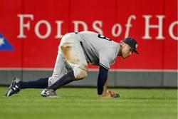 MLB》洋基賈吉打擊悶 改秀雷射肩飆速156km
