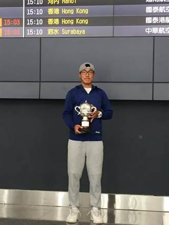 台灣囝仔許育修 溫網青少年雙打冠軍返台
