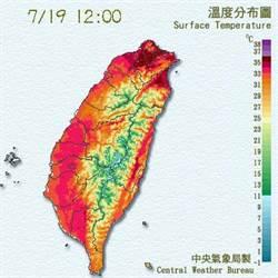 台北熱翻了 攝氏38度高溫出現