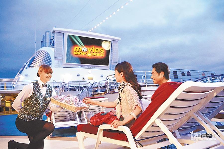 藍寶石公主號遊輪可比擬為一座行動渡假村,一上船就開始了享受的旅程。圖/業者提供