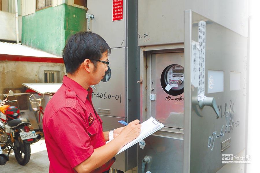 南市府消防局近年來配合節電措施,要求各分隊每天抄電表,控管用電量及時間,基層質疑省電省過頭。(萬于甄攝)