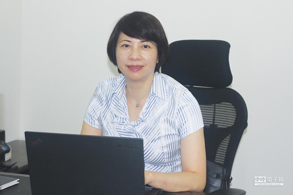 鴻晶新科技執行長劉亭嫣,擁有太陽能業界10多年的背景,帶領公司營運持續往前。圖/楊智強