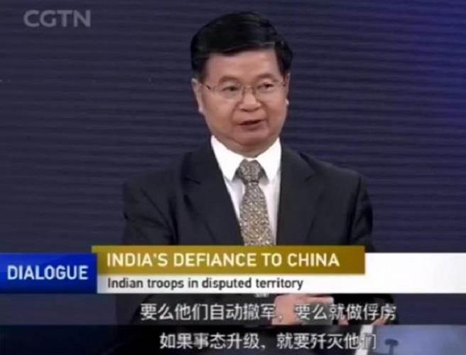 大陸駐孟買前總領事劉友法。(擷取自CGTN節目《對話》)