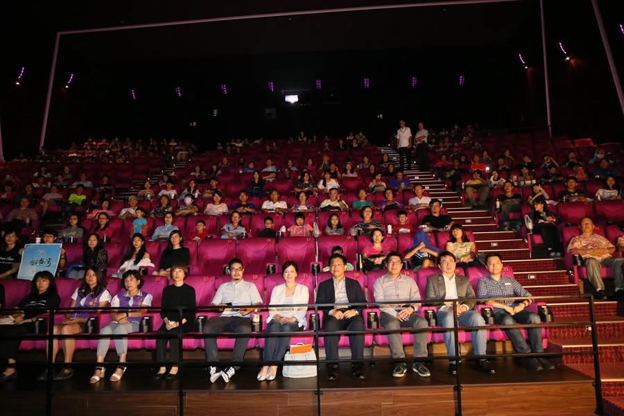 「看見台灣紀念放映會」今晚在台中市舉辦,播放《看見台灣》與《台中心動》兩部影片。(盧金足攝)