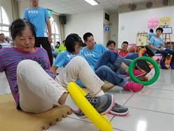 親子運動會 身障朋友突破限制玩趣味競賽