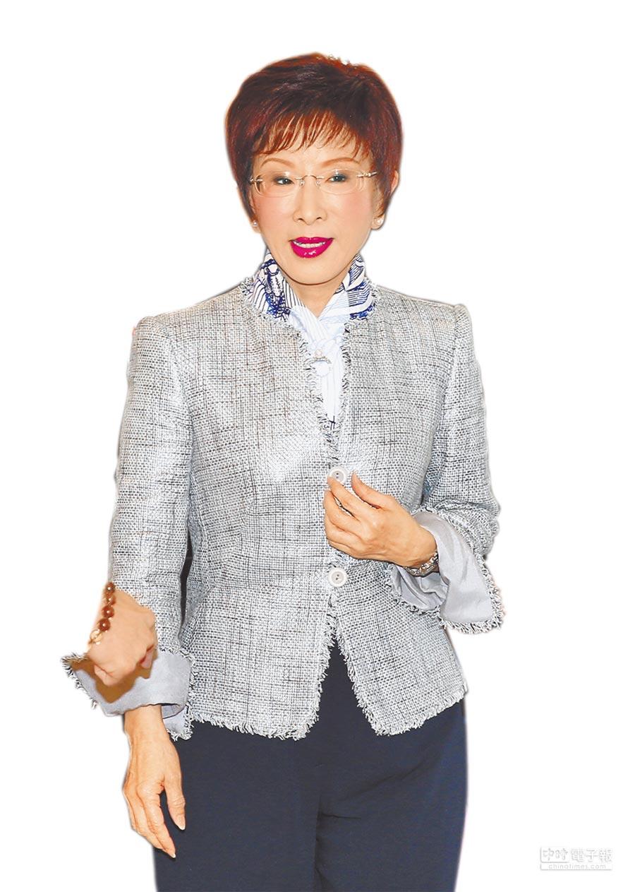 國民黨前主席洪秀柱訪泰簽證遭百般刁難,不願受辱,決定取消行程。(本報資料照片)