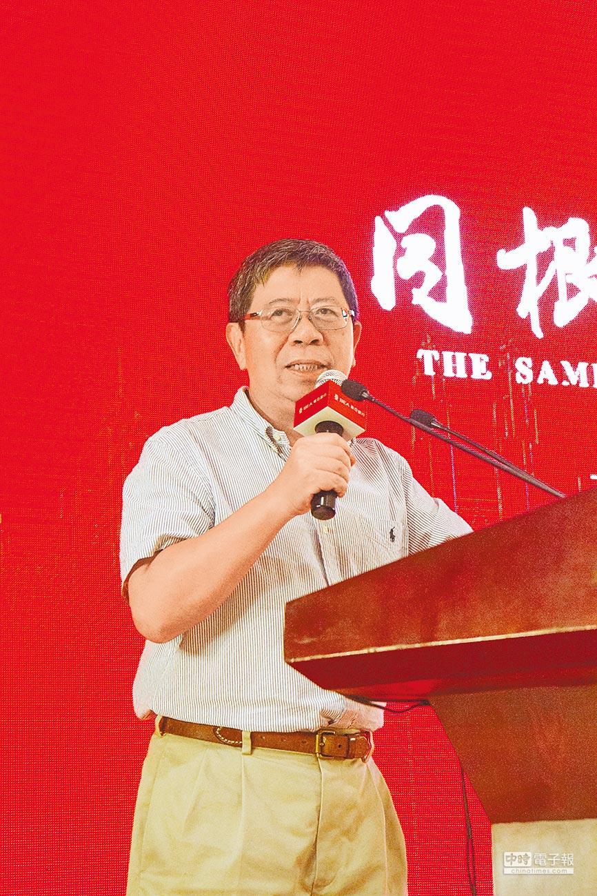 上海北外灘金融研究院院長何佳指出,金融穩定是一帶一路最重要的執行基礎。(記春吳泓勳攝)