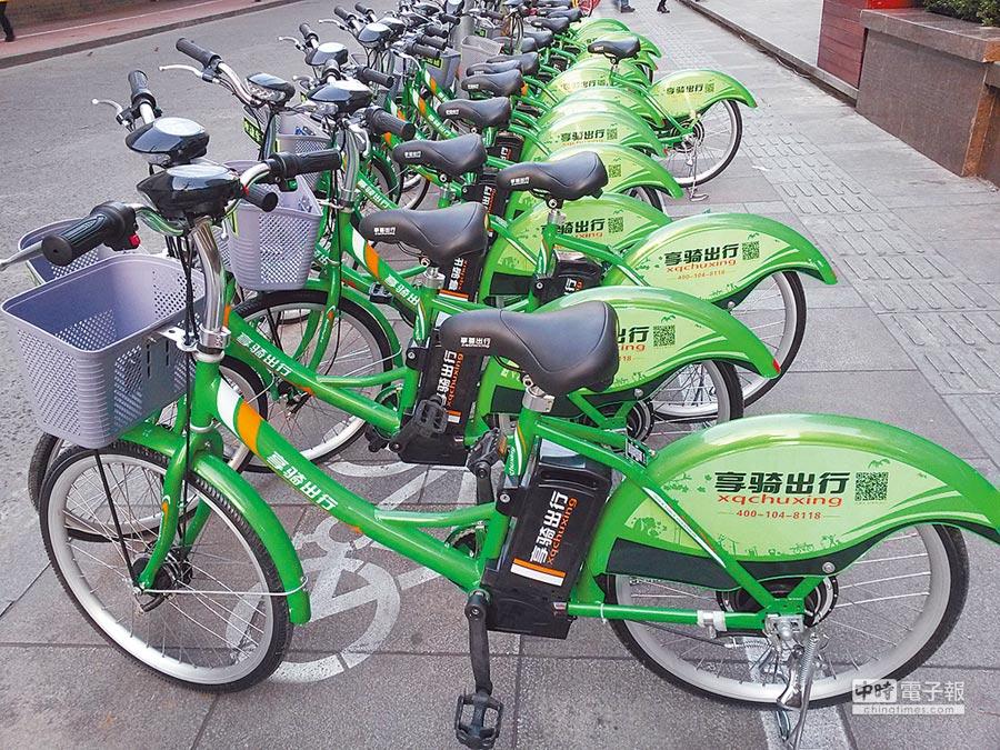 共享單車是大陸發展物聯網應用之一。(CFP)