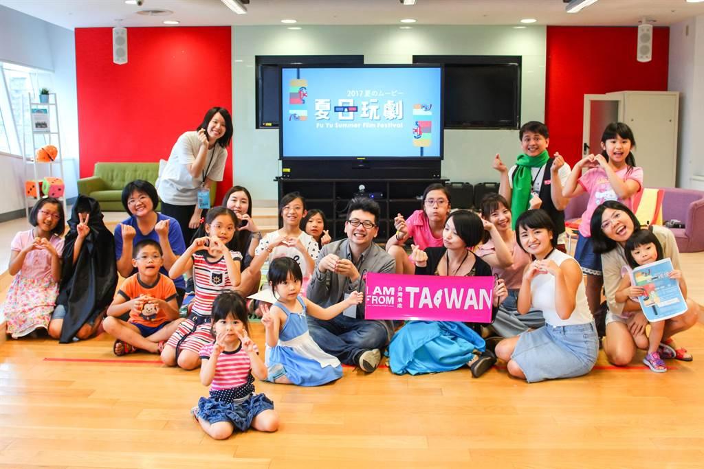 夏日映像電影放映會還針對孩童規劃互動式遊戲。(圖/曾麗芳)