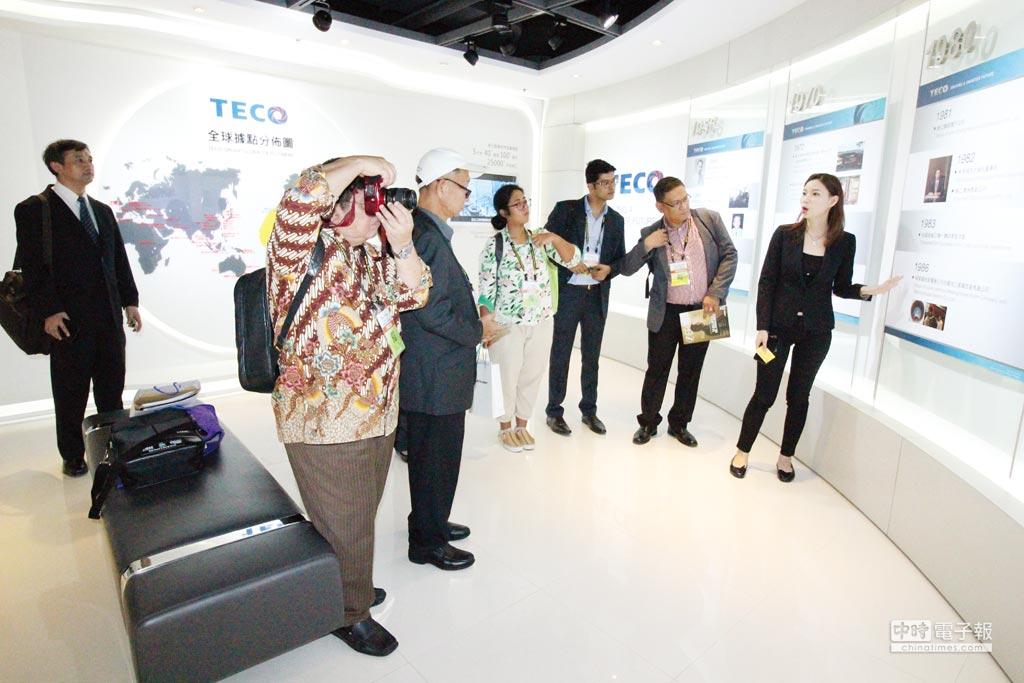 新南向國家五國媒體團到東元電機參訪。圖/業者提供