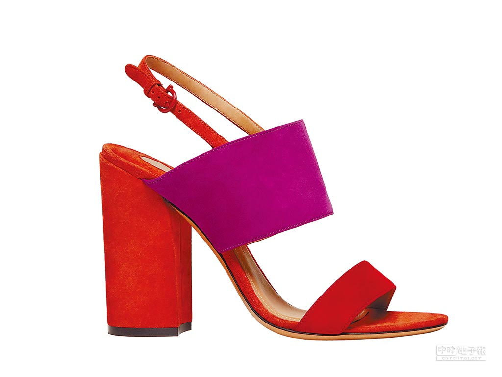 Ferragamo ELBA多色拼接羊麂皮涼鞋,2萬3900元。(Ferragamo提供)