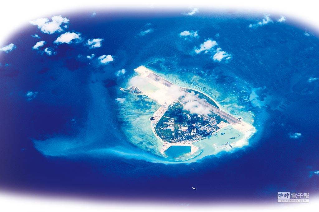 從天空俯瞰永興島。(CFP)